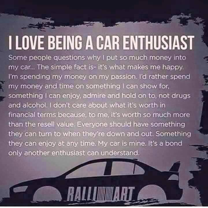 My New Car Quotes: On Being A Car Enthusiast…