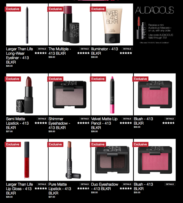 http://www.narscosmetics.com/USA/blkr-collection