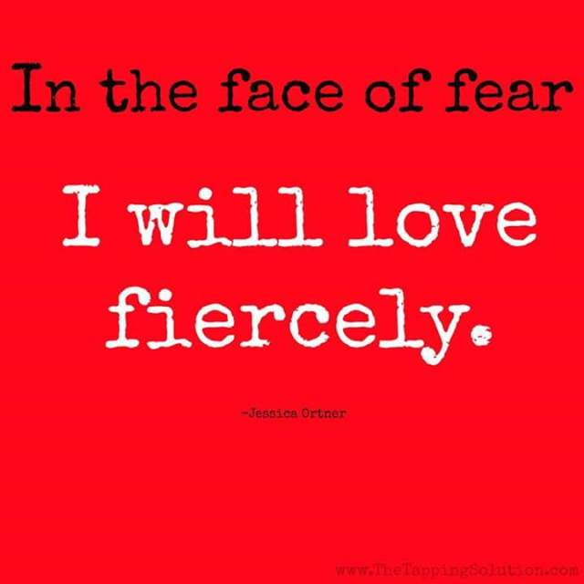 I will love fiercely