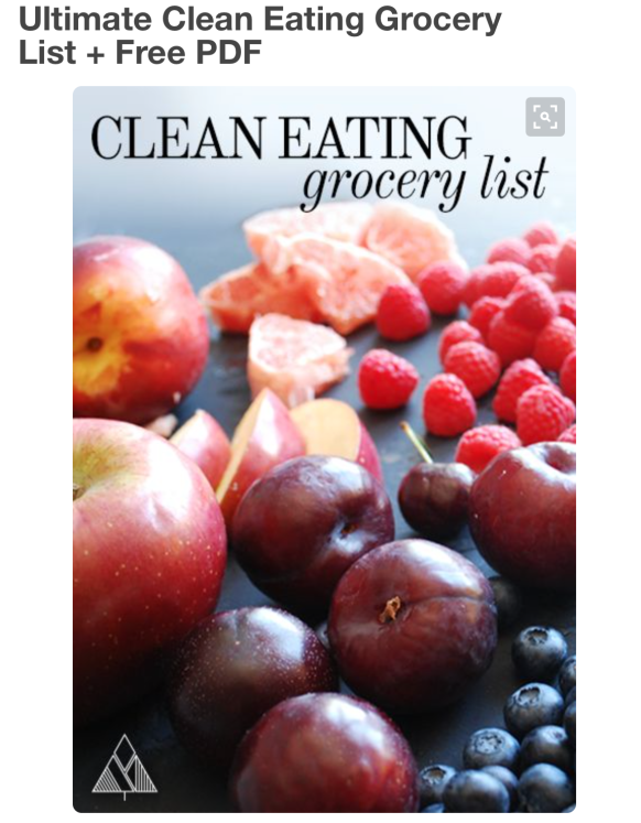 http://www.thelittlepine.com/clean-eating-grocery-list/