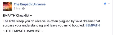 Empath Universe via Facebook
